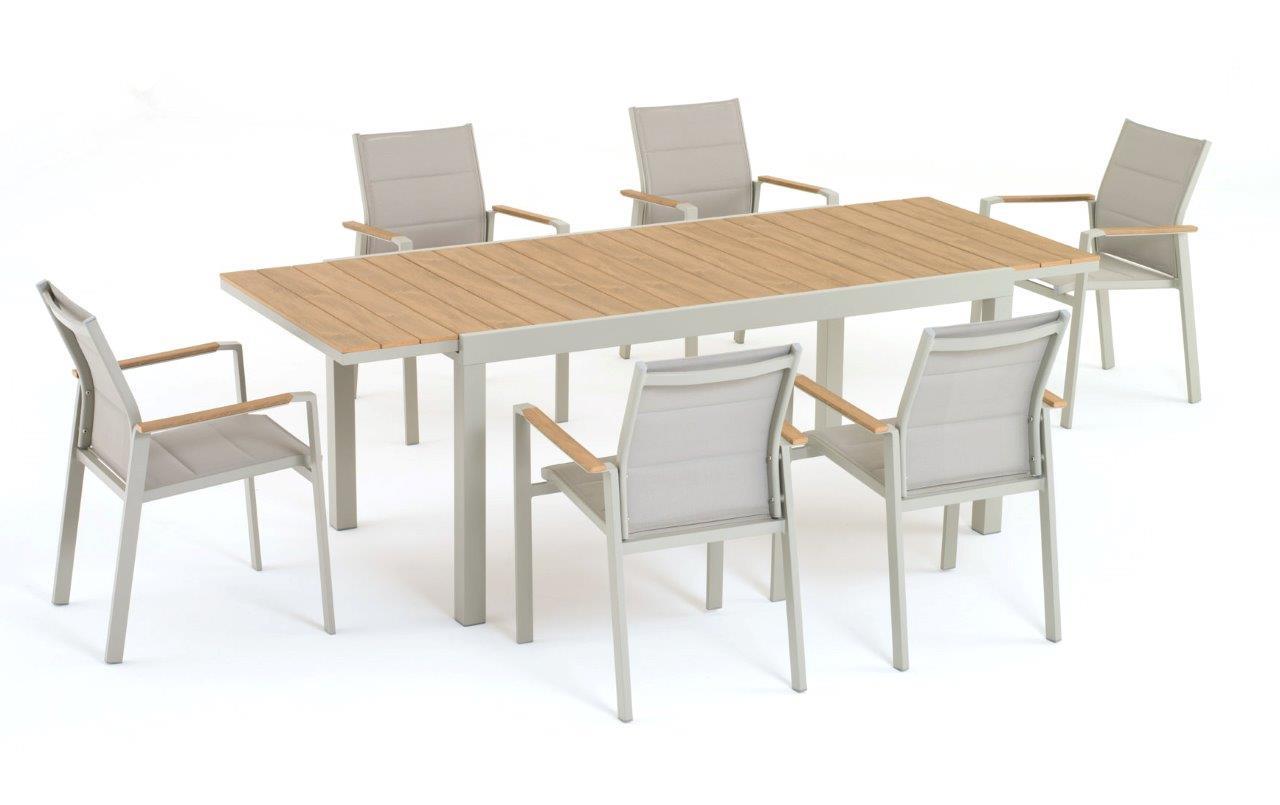 Tavolo Beverly Allungabile Salmar Alluminio e Polywood Image